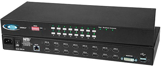 UNIMUX-DVI-16HD (Front & Back)