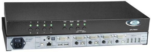 SPLITMUX-DVI-4RT (Front & Back)