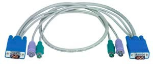 VGA 15-pin HD male-to-male plus two PS/2 6-pin miniDIN male-to-male cable
