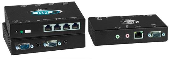 VOPEX-C5VA-4C1000 Local Unit (Front & Back) and ST-C5V-R-1000SP Remote Unit